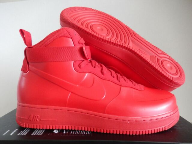 Nike Air Force 1 Foamposite Cup Af1 Men Size 13 Triple University Red Bv1172 600