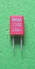 10 x 3,3nF/250V-  Folienkondensatoren WIMA MKS-02    RM 2,5mm