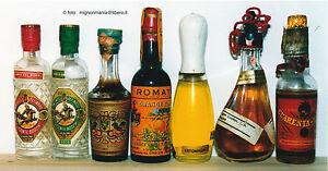 Lotto-7-mignon-bottigliette-miniature-spagnole-Spagna-liquori-vari-sughero