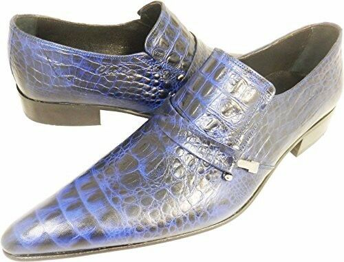 Handmade Slipper Top 41 Chelsy Modern Croco Blue Italian 100 xqPUw01