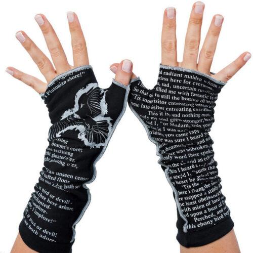 Women Soft Printed Arm Knitted Mitten Long Winter Hand Warmer Fingerless Gloves