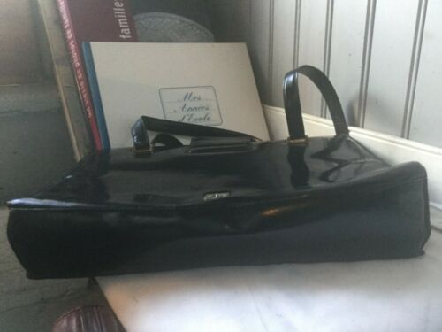 Sac Vintage Cuir Noir j Verni Moschino 0rAwq650
