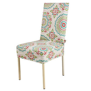 floral printed restaurant home dining room decor chair cover slipcovers 16 color ebay. Black Bedroom Furniture Sets. Home Design Ideas