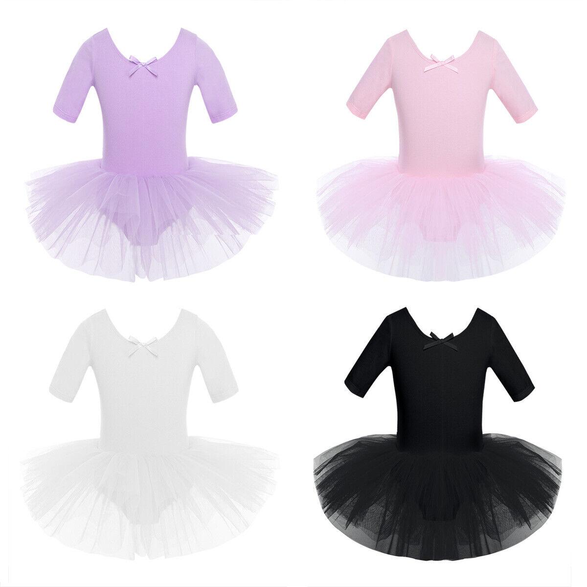 Girl Ballet Dance Dress Gymnastics Leotard Tutu Skirt Ballerina Skate Costume