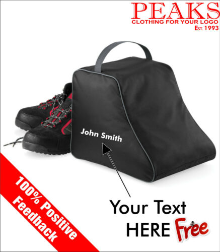 FREE EMBROIDERY QD85 Hiking Boot Bag Personalised Gift//Birthday