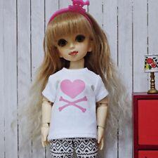 bjd yosd 1/6 doll clothes, Top t-shirt heart skull