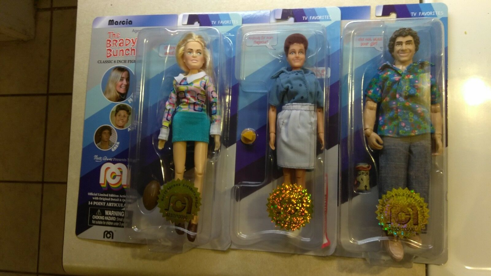 2018 MEGO ACTION FIGURE THE BRADY BUNCH GREG MARCIA ALICE LIMITED EDITION LOT  D