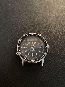 Vintage-Seiko-H556-5029-Quartz-Alarm-Chronograph-Sports-100-Watch-AS-IS