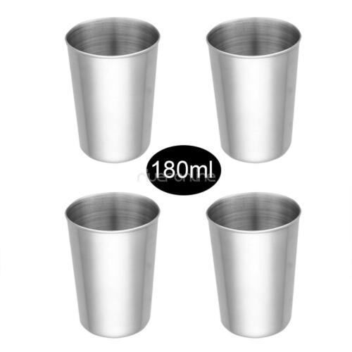 Stainless Steel Cups Drinking Pint Cup Tumbler Metal Cups Stackable Durable Cup
