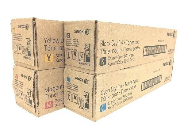 Xerox 800 / 1000 Digital Color Press Toner FULL set 6R1470 6R1471 6R1472 6R1473