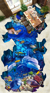 3D mundo submarino 961 Impresión De Parojo Murales Papel de parojo de piso AJ Wallpaper Reino Unido Limón