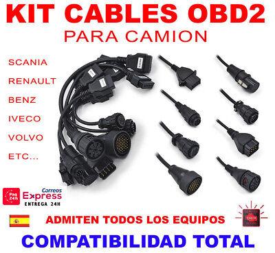 Ragionevole Kit 8 Cables Obd2 Camion Para Equipos De Diagnosis / Universal / Full Cables Distintivo Per Le Sue Proprietà Tradizionali