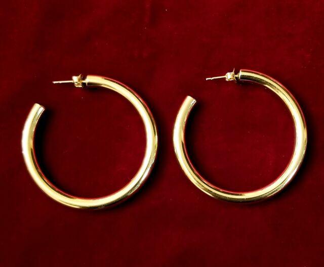 Retired James Avery 14k Yellow Gold Fiesta Smooth Hoop Earrings Ebay