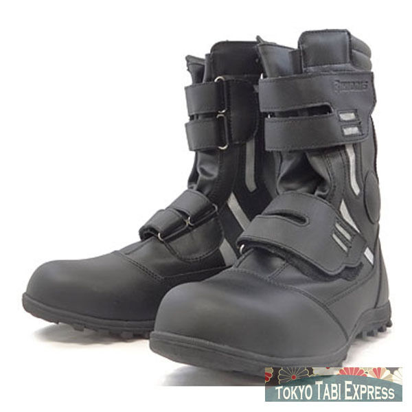 Zapatos negros ninja japonés Japón alta Guardia seguridad estándar de Puntera De Acero botas De Trabajo