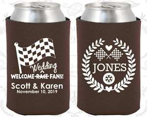 Personalized Wedding Koozies Custom Koozie Gifts (589) Race Car ...