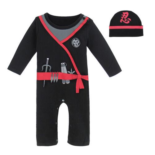 Baby Boy Pirate Romper Costume Newborn Ninja Playsuit Infant Carnival Outfit Set