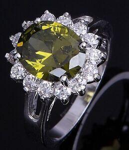 Breathtaking-Jewelry-Size-10-Cute-Womens-10KT-Gold-Filled-Peridot-Fashion-Ring