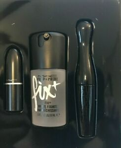 Details About Mac Shiny Pretty Things All Star Set Fix Plus Mascara Velvet Teddy Lipstick