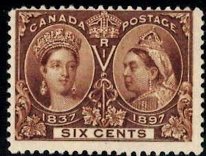 Canada-Stamp-55-Queen-Victoria-Jubilee-1897-6-MNH-DG