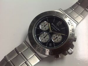 62fafe5a463 Image is loading Bvlgari-Diagono-Chronograph-Stainless-Steel-Automatic -Men-039-