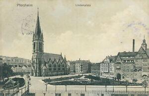 Ansichtskarte Pforzheim Lindenplatz 1913 (Nr.752)