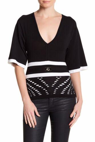 Collection Noir en à Taille Pull en 44 col Versace V maille 8xq4FaCFYw