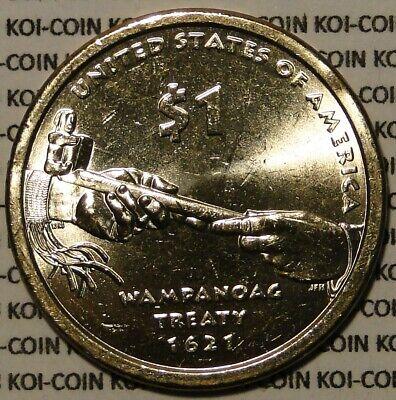 2011 Native American Sacagawea P/&D Dollars Uncirculated BU Wampanoag Treaty