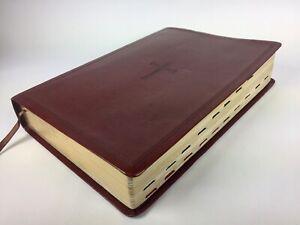 The-HOLY-BIBLE-NKJV-HOLMAN-Brown-Leather-Bound-Gold-Color-Edges-2013