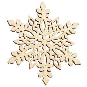 10-pezzi-Acuto-legno-esagonale-fiocco-di-neve-ornamento-albero-di-Natale-ar-G3A3