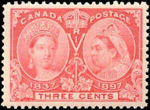 1897-Mint-NH-Canada-VF-Scott-53-3c-Diamond-Jubilee-Stamp
