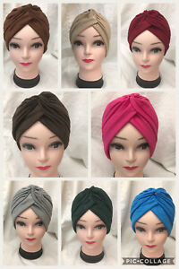 NEW-TURBAN-STYLE-Head-Wrap-Head-cover-Hat-Bandana-Scarf-Hair-Loss-Cap-Chemo