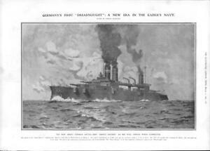 1908-Antique-Print-GERMANY-Battle-Ship-Ersatz-Bayern-Dreadnought-Kaiser-128