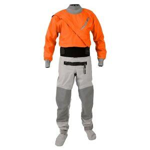 Kokatat-Hydrus-3-0-Meridian-White-Water-Dry-Suit-Mens-Medium-Tangerine-Orange