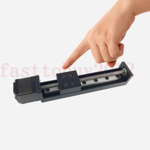 CNC Mini T6 Vis Linear Motion Slide Nema 11 axes Pas à Pas Moteur Course 50-200 mm