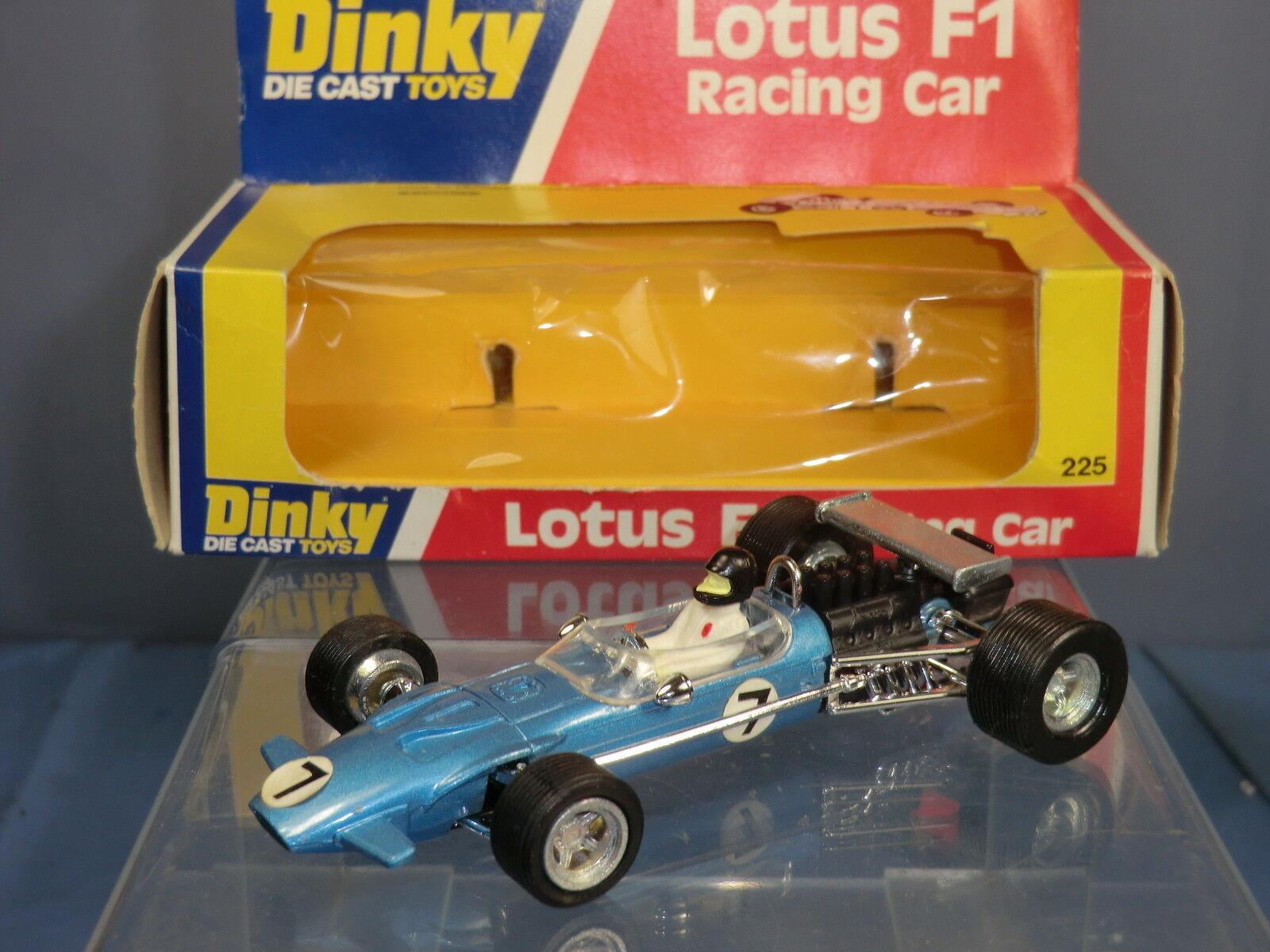 DINKY TOYS MODEL No.225 LOTUS F1 auto da corsa  versione blu metallico  Nuovo di zecca con scatola