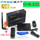 FTA HD 1080P Freesat V8 Super DVB-S2 Satellite Receiver Support Powervu USB WIFI