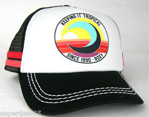 0cb2b68a8 Details about Roxy Snapback Cap Dig This Keeping It Tropical Since 1990  Roxy Hat Beach Surf