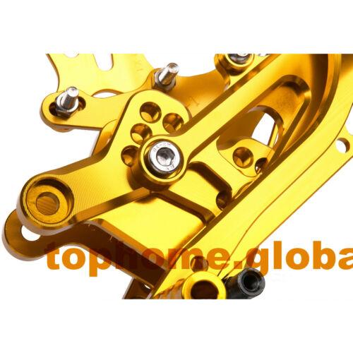 For Honda CBR600F F4 F4i 1999-2006 Rear Brake Set Footpeg CNC Rearset Foot Peg