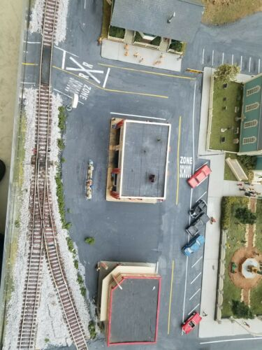 Highways and Byways N scale white road stripes Free US Shipping