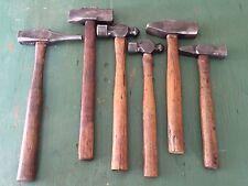 Vintage Lot of 6 Blacksmith Machinist Engineer Straight Ball Peen Hammer