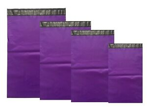 Purple-Mailing-Bags-COLOR-Plastic-Mail-Post-Postage-Polythene-Strong-Seal