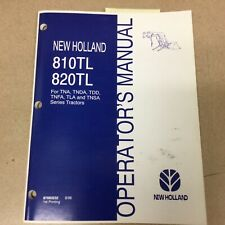 New Holland 810tl 820tl Loader Operator Manual Operation Amp Maintenance 87583232