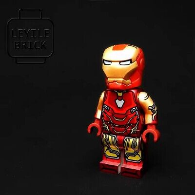 ⎡DRAGON BRICK ⎦Custom Iron Man Tony Stark Armor Mark 2 Lego Minifigure