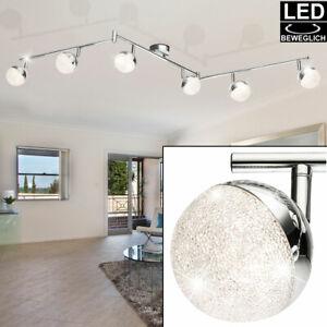 Retro LED Decken Lampen Chrom Wand Leuchten Tisch Spot Strahler beweglich EEK A+