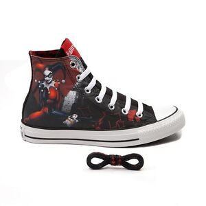 08a0cb381c1686 NEW Converse HARLEY QUINN All Star Chuck Taylor Shoes Womens SUICIDE ...
