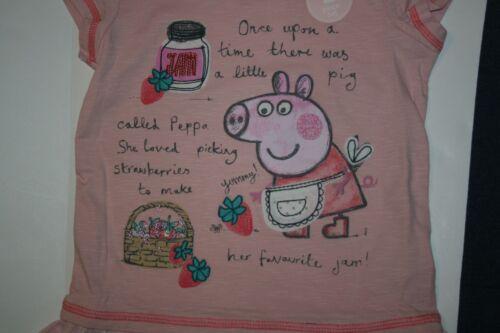 Neu Next UK Pink Peppa Pig Tunika Top /& Leggings Satz 2T 3T 98cm Erdbeere