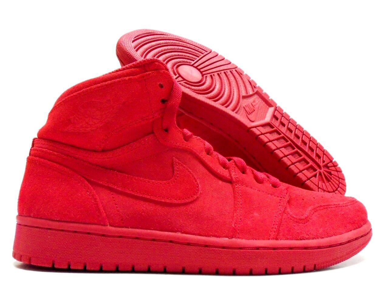 Nike air jordan 1 'alto scamosciato palestra rosso red / palestra red rosso taglia uomini 12 [332550-603] a81ada