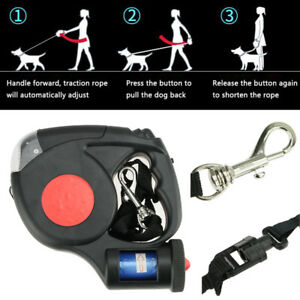 Dog-Traction-Rope-Automatic-Retractable-Leash-5M-3-LED-Lights-With-Garbage-Bags