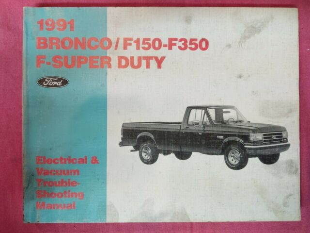1991 Ford F150   Bronco Factory    Dealer Electrical Wiring Diagram Manual