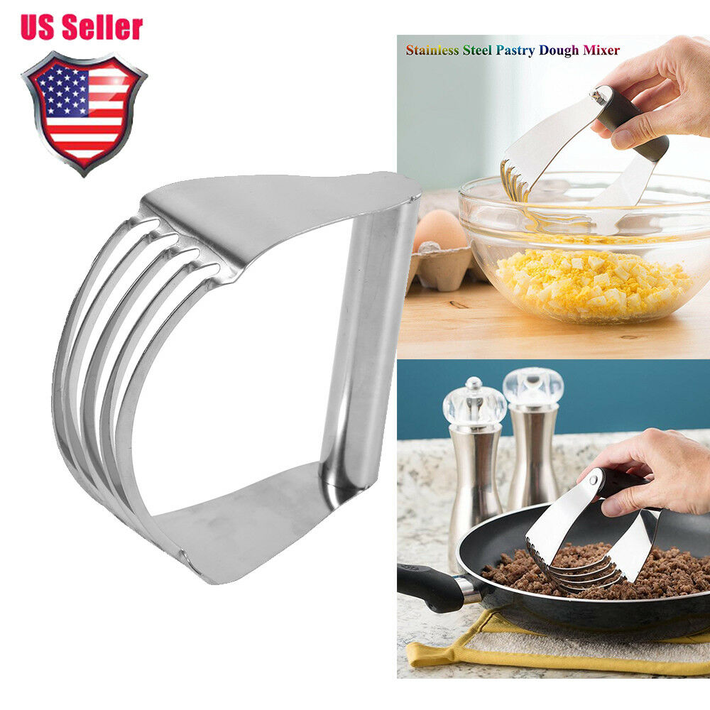 Stainless Steel Pastry Dough Cutter Blender Mixer Whisk Baking Kitchen Tools New